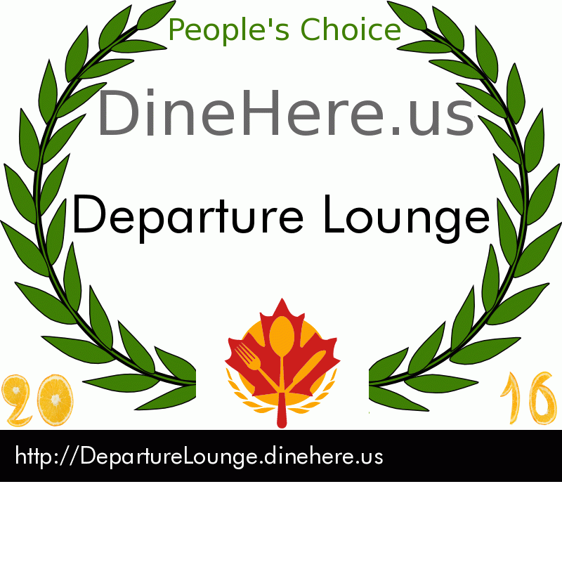 Departure Lounge DineHere.us 2016 Award Winner